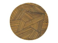 Tappeto rotondo in lana a motivi geometrici INTRECCIO | Tappeto rotondo - The Designers