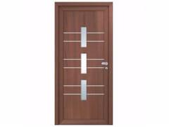 Porta d'ingresso in derivati del legno per esterno con pannelli in vetro INTRO UPPSALA -