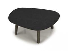 Tavolino in betulla con top in acciaio INVERSE   Tavolino in acciaio - Inverse