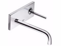 Miscelatore per lavabo a muro monocomando con piastra IQ -  A4489 - IQ