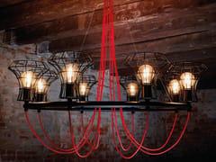 Lampadario a luce diretta in ferro LADY CAGE | Lampadario in ferro - Lady Cage