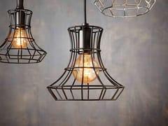 Lampada a sospensione a luce diretta in ferro LADY CAGE | Lampada a sospensione in ferro - Lady Cage