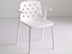 Sedia impilabile in tecnopolimero con braccioli ISIDORA | Sedia con braccioli -