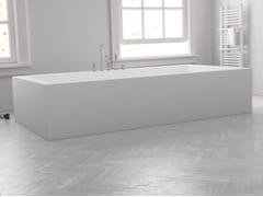 Vasca da bagno rettangolare in Corian® su misuraISLAND - RILUXA