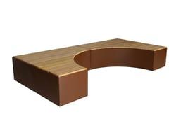 Euroform W, ISOLA II Panchina curva in legno
