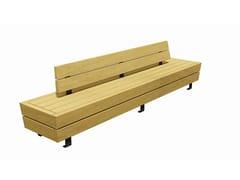 Euroform W, ISOLA IIII Panchina in legno con schienale