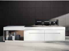 Modulo cucina freestanding in acciaio e legno con cassettiISOLA ZERO - ELMAR