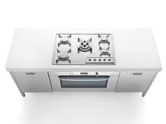 Cucina a libera installazione professionale in acciaio inoxISOLE CUCINA 190   Cucina a libera installazione - ALPES-INOX