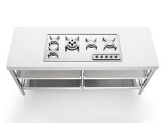 Modulo cucina freestanding in acciaio inox per piano cotturaISOLE CUCINA 190 | Modulo cucina freestanding per piano cottura - ALPES-INOX