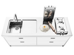 Modulo cucina freestanding in acciaio inoxISOLE CUCINA 190 | Modulo cucina freestanding - ALPES-INOX