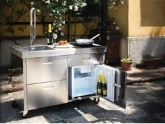 GPS INOX, ISOLELLA IS128AS Cucina da esterno elettrica in acciaio inox