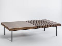 Tavolino da caffè rettangolare in legno massello IZZY | Tavolino rettangolare - Izzy