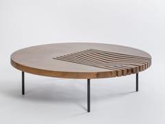 Tavolino da caffè rotondo in legno massello IZZY | Tavolino rotondo - Izzy