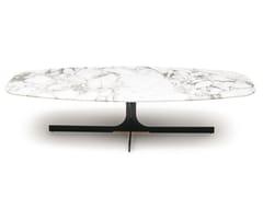 Tavolino in marmo con base a 4 razze JANUS | Tavolino in marmo -