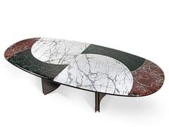 Tavolo da salotto ovale in marmo JASON | Tavolo ovale -