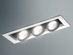 Faretto a LED orientabile in acciaio a soffitto JAVA LED - Java