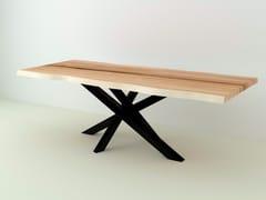 Tavolo rettangolare in acciaio e legnoJAVA - PIEDS MIKADO - FOR ME LAB