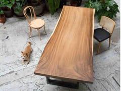 Tavolo rettangolare in acciaio e legnoJAVA PIEDS U - FOR ME LAB