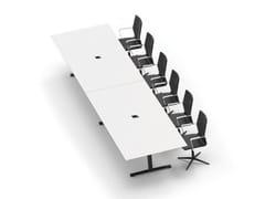 Tavolo da riunione rettangolare con sistema passacavi JAZZ | Tavolo da riunione rettangolare - Jazz