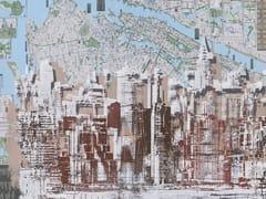 Carta da parati gommata con mappe con paesaggiJERSEY - TECNOGRAFICA