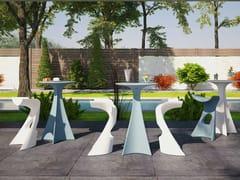 Tavolo alto da giardino in polietileneJET - SLIDE