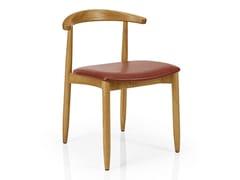 Sedia da ristorante in legno con schienale aperto JOANNA | Sedia - Joanna