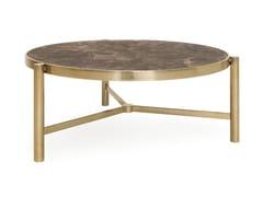 Tavolino rotondo con struttura in ottone e piano in mamoJOE - ANA ROQUE INTERIORS