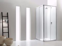 Box doccia angolare in vetro con porta scorrevole JOLLY - 1 - Jolly