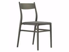 Sedia in plastica in stile moderno con cuscino integrato JOY 36 DARK BROWN/COFFEE - Ready to Ship