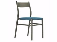 Sedia in plastica in stile moderno con cuscino integrato JOY 36 DARK BROWN/LIGHT BLUE - Ready to Ship