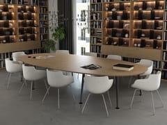 Tavolo da riunione ovale in legno impiallacciatoJOY | Tavolo da riunione - ELITABLE