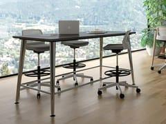 Scrivania / tavolo in legno impiallacciatoJOY | Tavolo alto - ELITABLE