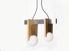 Lampada a sospensione in legno e alluminioJULIETTE.SD - PASCAL AND PHILIPPE