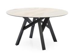 Tavolo rotondo in ceramica JUNGLE | Tavolo rotondo -