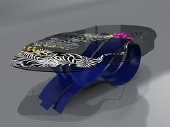 Tavolo in acciaio inox e vetroJUNGLE - TECNOTELAI