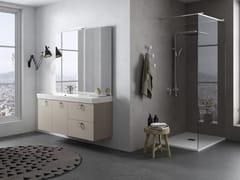 Mobile lavabo sospeso con specchioJUPITER 02 - BMT