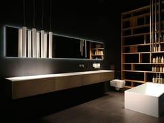 Mobile lavabo singolo sospeso con cassetti K.KUBE METALLO BRONZO - K.Kube