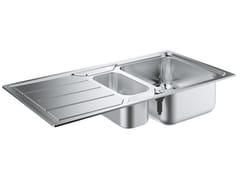 Lavello a una vasca e mezzo da incasso in acciaio inox con gocciolatoio K500 - 31572SD0 | Lavello a una vasca e mezzo - K500
