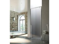 Box doccia a nicchia con porta pivotante KAHURI KN - Showering