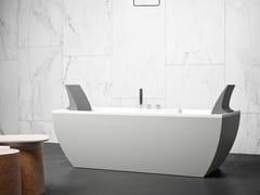 Vasca da bagno centro stanza rettangolare in KcrylKALÌ C - KAROL ITALIA
