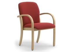 Sedia in legno lamellare e tessuto con braccioliKALI | Sedia con braccioli - LEYFORM