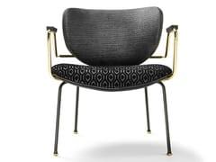 Sedia in tessuto con braccioliKALIDA LOUNGE | Sedia con braccioli - BLACK TIE