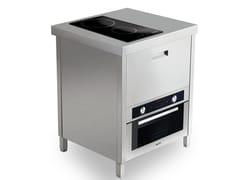 Cucina a libera installazione in acciaio inoxKALOS KA070FUP - GPS INOX