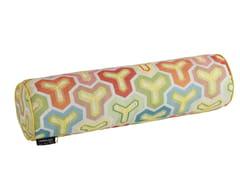 Cuscino a motivi cilindrico sfoderabile in tessuto KAME | Cuscino cilindrico -