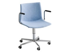Sedia ufficio ad altezza regolabile imbottita con braccioliKANVAS 2 T5R BR FRONT/FULL - GABER