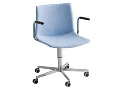 Sedia ufficio ad altezza regolabile imbottita con braccioliKANVAS T5R BR FRONT - GABER