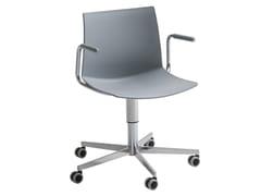 Sedia ufficio ad altezza regolabile a 5 razze con braccioliKANVAS T5R BR - GABER