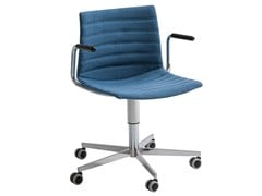Sedia ufficio ad altezza regolabile imbottita con braccioliKANVAS T5R BR FULL - GABER