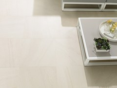 Pavimento/rivestimento in gres porcellanato effetto pietra KAOS BEIGE - URBATEK - Grès Porcellanato