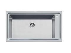 Lavello a una vasca semi filo top in acciaio inoxKE 1V 71x40 S/FT TPR INOX - FOSTER